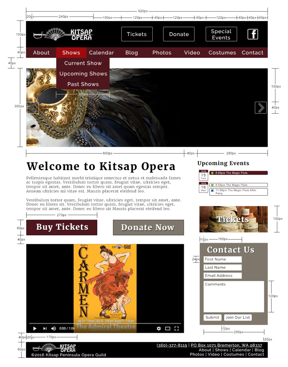 Kitsap Opera Simplified Red Lines