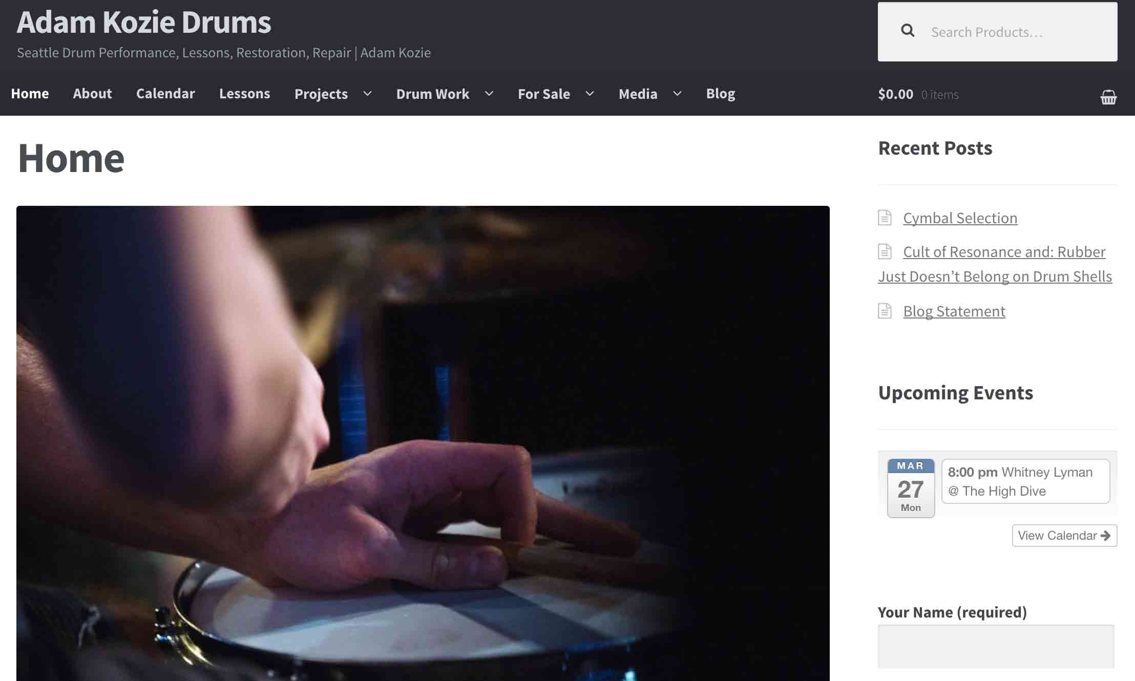 Adam Kozie Drums screenshot